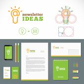 Newsletter Ideas Logo and Identity Template