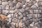 Decorative stone wall - full frame background