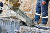 foto of concrete pouring  - concrete work - JPG