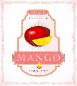 Mango product label
