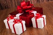 One Red Gift Box White Gift Boxes