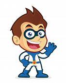 Superhero waving