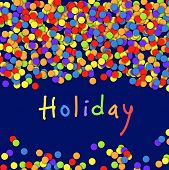 Colorful Confetti. Celebration Holiday Vector Background
