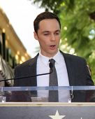 LOS ANGELES - OCT 29:  Jim Parsons at the Kaley Cuoco Honored With Star On The Hollywood Walk Of Fame at the Hollywood Blvd. on October 29, 2014 in Los Angeles, CA