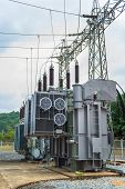 Transformer station and the high voltage electric pole
