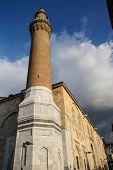 Brick Minaret Of The Ulu Cami