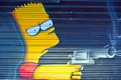 Street art Bart Simpson