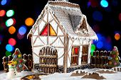 Gingerbread House And Snowman