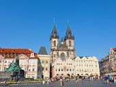 Cityscape of Old Town Square ,Czech Republic