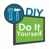 DIY - Do It Yourself Green Blue
