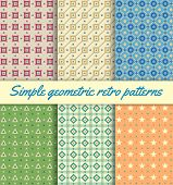 Simple Geometric Retro Patterns