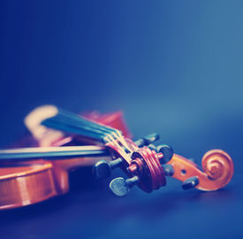stock photo of classic art  - Classic music violin vintage close up - JPG