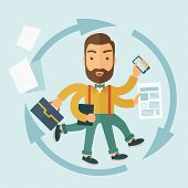 foto of multitasking  - The Man Capable of Multitasking - JPG