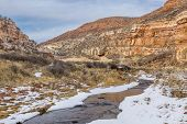 picture of collins  - stream in sandstone canyon  - JPG