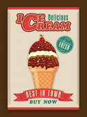 pic of ice cream parlor  - Stylish vintage menu card design for ice cream parlor or restaurant - JPG