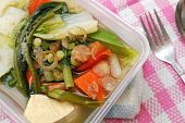 Packed Meal With Healthy Vegetables
