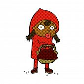 picture of little red riding hood  - little red riding hood retro comic book style cartoon - JPG