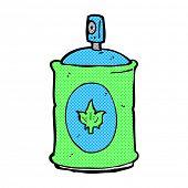pic of fragrance  - retro comic book style cartoon fragrance spray - JPG