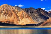 pic of jammu kashmir  - Reflection of Mountains on Pangong tso  - JPG