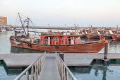 foto of kuwait  - Dhow fishing boats in the harbor of Kuwait City Middle East - JPG