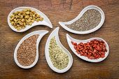 stock photo of teardrop  - superfood samples   - JPG