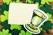 image of leprechaun hat  - Greeting card for Saint Patrick - JPG