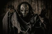 picture of halloween  - Portrait of a mysterious man in iron mask - JPG