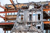 stock photo of abort  - one older office buildings will be demolished - JPG