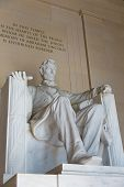 picture of abraham  - Abraham Lincoln Memorial building Washington DC US USA - JPG