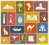 stock photo of hieroglyphic symbol  - Egyptian tradition icons - JPG