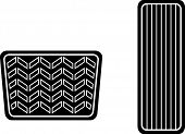 picture of pedal  - car accelerator and brake pedals symbol - JPG