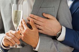 stock photo of gay wedding  - people - JPG