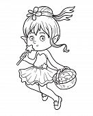 image of faerie  - Coloring book for children  - JPG
