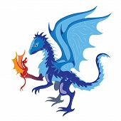 image of dragon  - The dragon holds the fiery dragon in hand - JPG