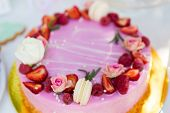 stock photo of ombres  - Dessert table for a party - JPG