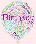 picture of congratulation  - Birthday Balloons Means Congratulation Party And Words - JPG