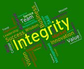 foto of moral  - Integrity Words Indicating Morality Truthfulness And Sincerity - JPG