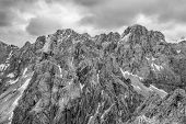 stock photo of mountain chain  - Dramatic mountain landscape - JPG