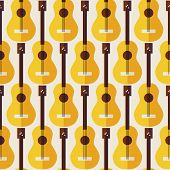 stock photo of acoustic guitar  - Pattern Music Instrument Guitar - JPG