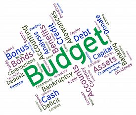 foto of budget  - Budget Words Meaning Accounting Budgets And Wordcloud - JPG