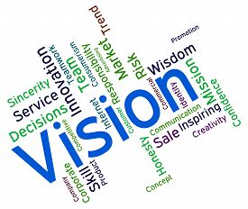 stock photo of objectives  - Vision Word Meaning Objective Objectives And Target - JPG