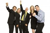 Five Business People Express Excitement