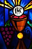 Stained Glass Cup And Grapes