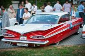 Retro Car on Vintage Car Parade