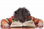 Jongen moe om studie