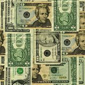 Seamless Repeatable US banknote pattern