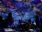 City in starlight