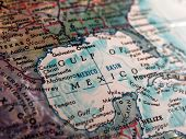 stock photo of gulf mexico  - Gulf of Mexico on Globe - JPG