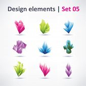 Crystal design elements for business artwork vector