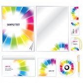 Rainbow gradient meshTemplate for Business artworks. Vector